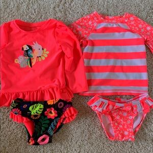 Two Cat and Jack Long Sleeve bathing suits